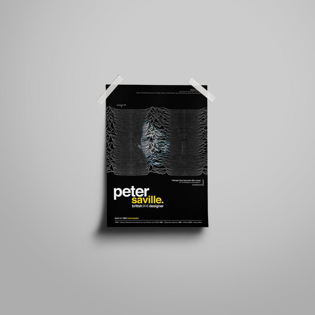 peter saville poster design for black tiger creative work page
